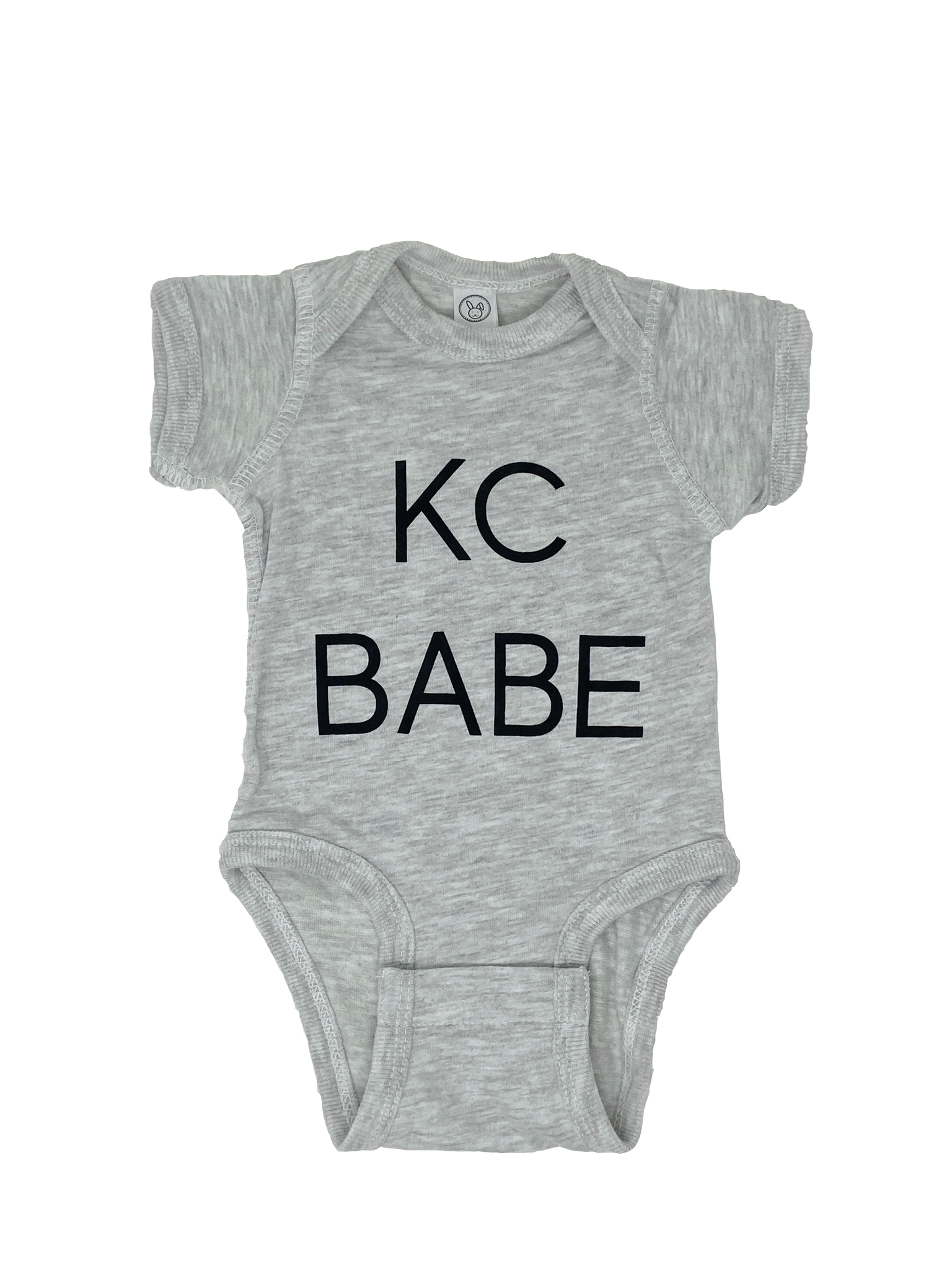 KC BABE // Light Gray Onesie