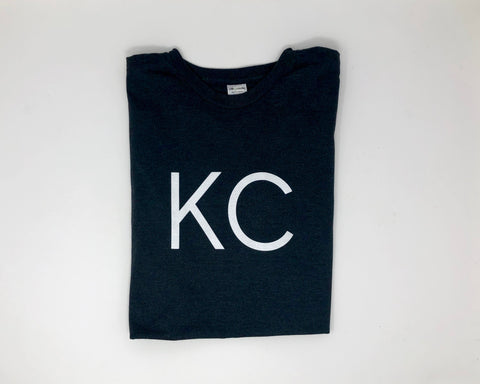 "Kansas City ""KC"" Shirt - Dark Gray // White Font"