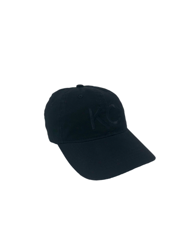 Kansas City KC Dad Hat // Black + Black