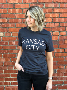 Kansas City Shirt - Dark Gray // Light Font