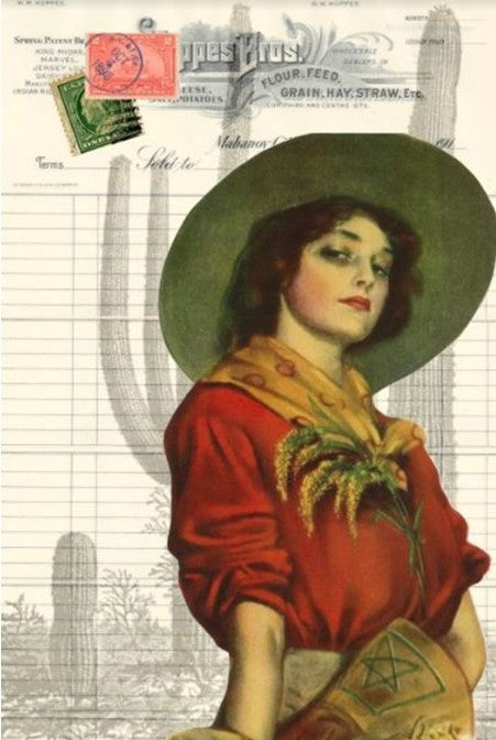 Cowgirl Decoupage Paper