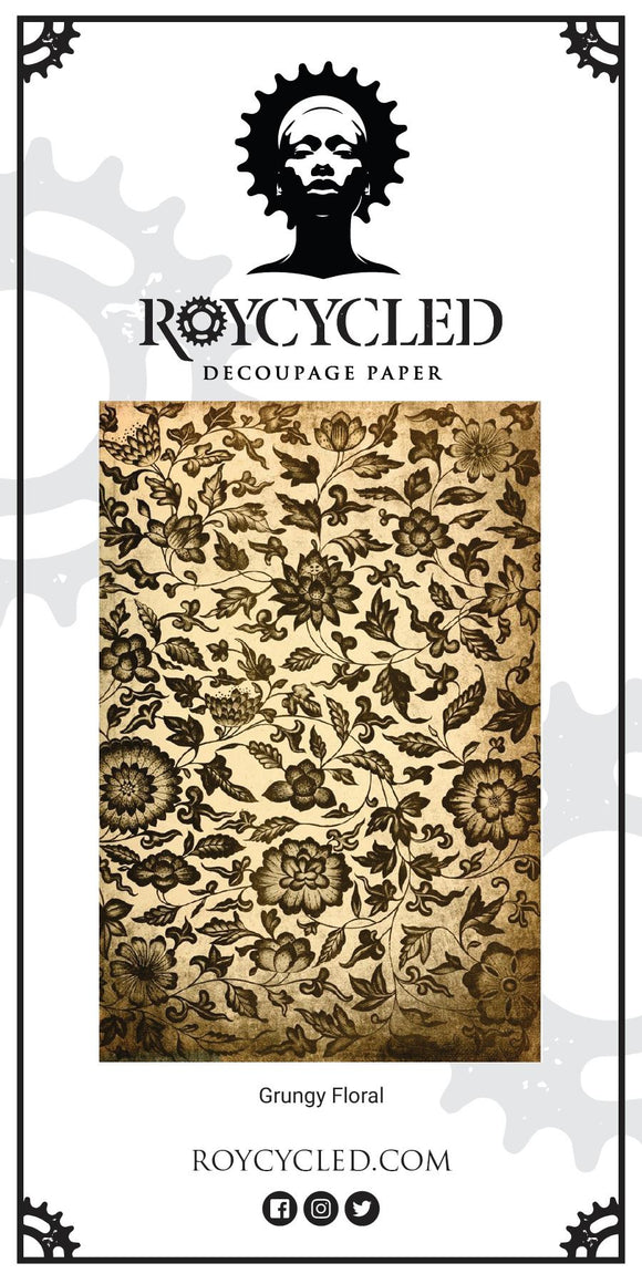 Grungy Floral Decoupage Paper - New Release