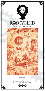 Red Toile Decoupage Paper - New Release