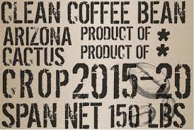 Coffee Bean Sack Decoupage Paper Sheet
