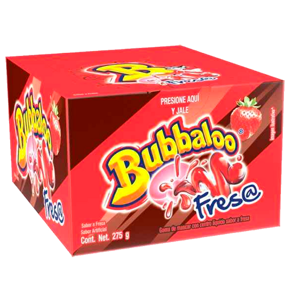 Adams chicles Bubbaloo Fresa 32/50 pz