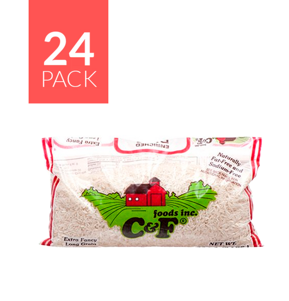C&F Long Grain Rice 24/1Lb