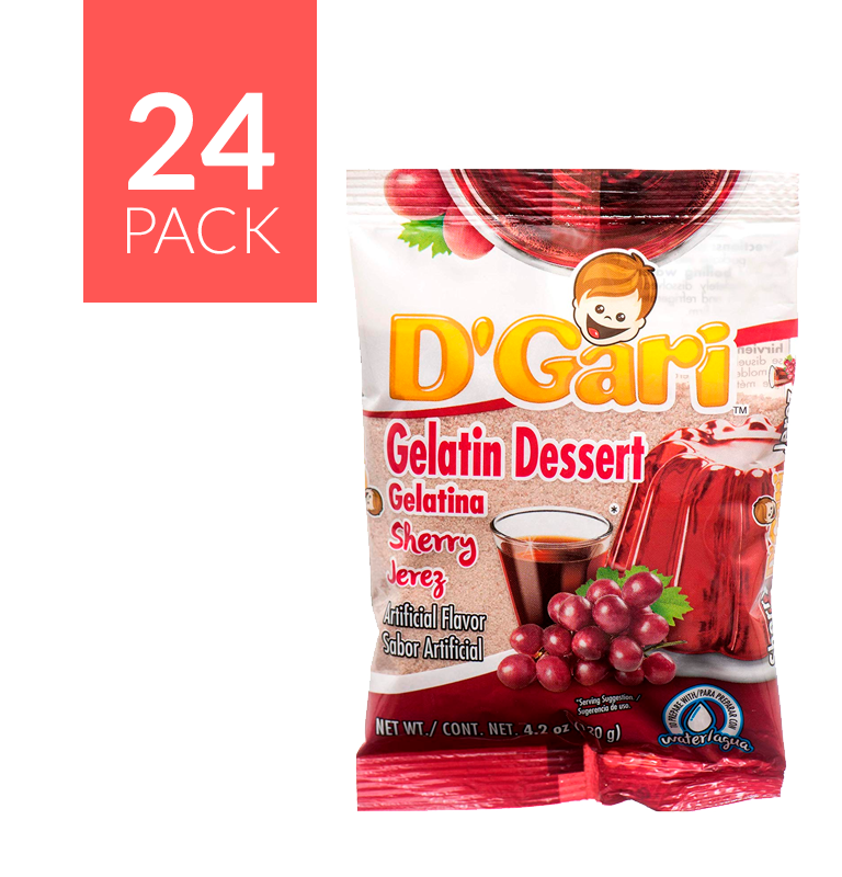 D Gari Gelatin Jerez 24 pack of 5oz each