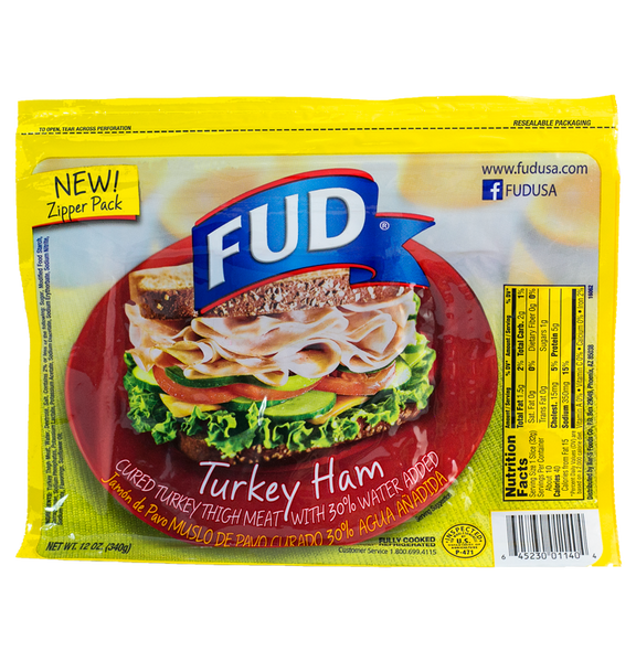 Fud Slice Turkey Ham 18/12 oz