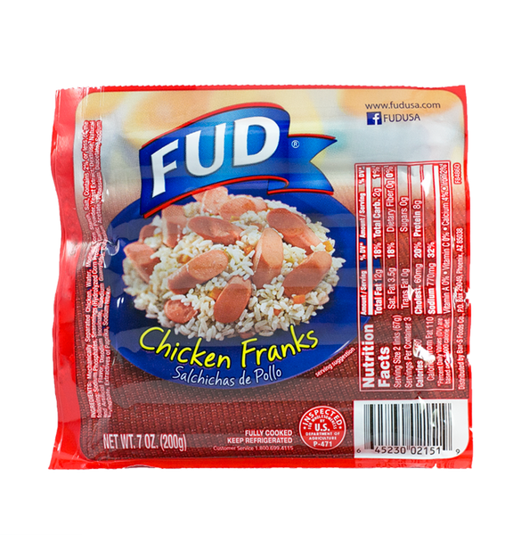 Fud 2151 Chicken Franks 24/7 oz