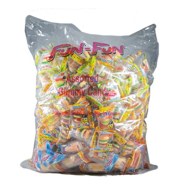 Fun Fun Assorted Gummies 4/5Lbs