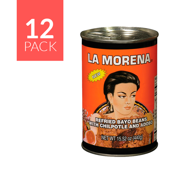 La Morena Refried Beans 12/15.5 oz