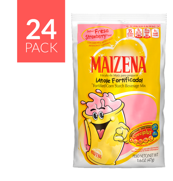 Maizena Strawberry 2 boxes, 24 pack each box, 1.5oz each envelope