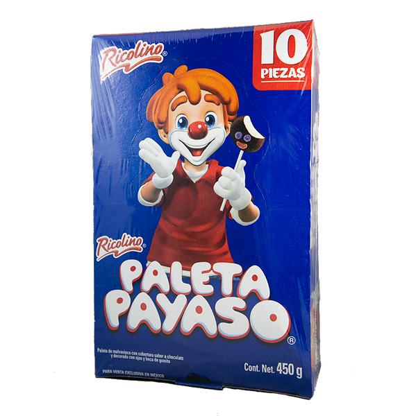 Ricolino Paletas Payaso Display 12/10