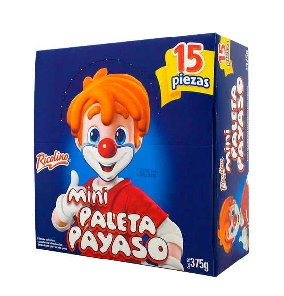 Ricolino Paletas Payaso Display Mini 12/15