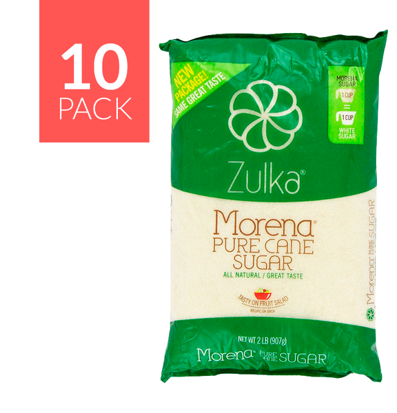 Zulka Cane Sugar 10 pack, 2 Lbs each