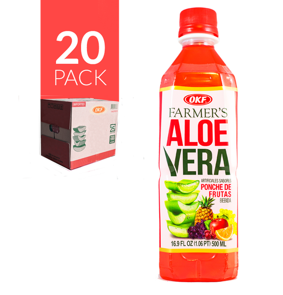 Okf - Aloe Drink Ponche de Frutas 20 Pack de 500 ml