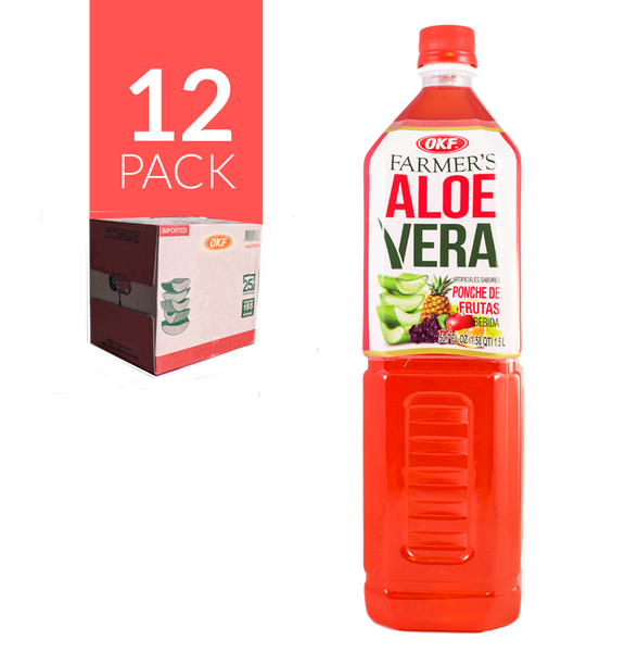 Okf Aloe Drink Ponche de Frutas 12 Pack de 1,5 ml