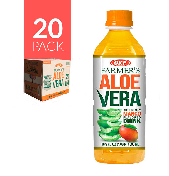 Pack de 20 botellas de Okf-Aloe de Mango de 500ml.