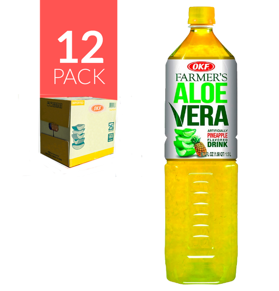 Okf Aloe Drink de Piña 12 Pack de 1,5 ml
