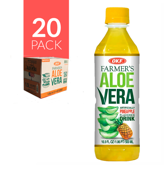 Okf Aloe Drink Piña 20 pack de 500 ml