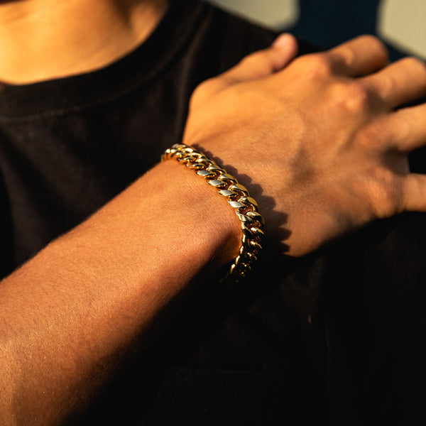 10mm Gold Miami Cuban Bracelet