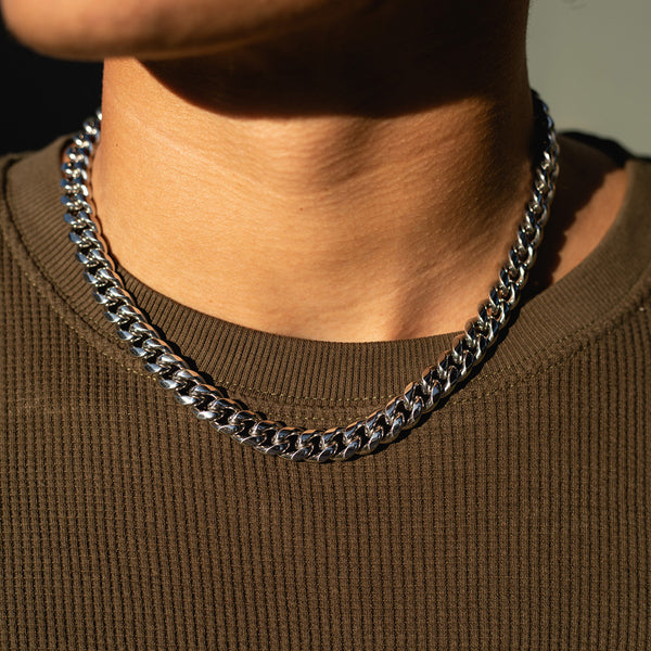10mm White Gold Miami Cuban Chain
