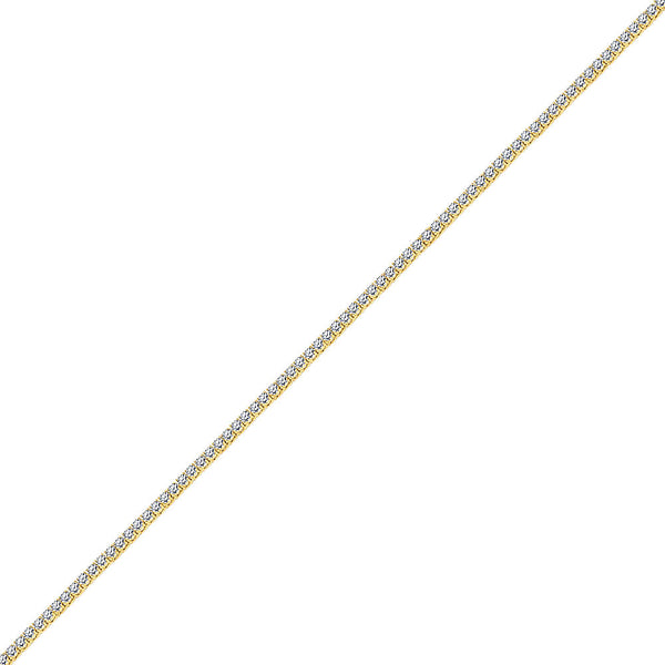 3mm Men's Gold One Row Diamond CZ Tennis Chain