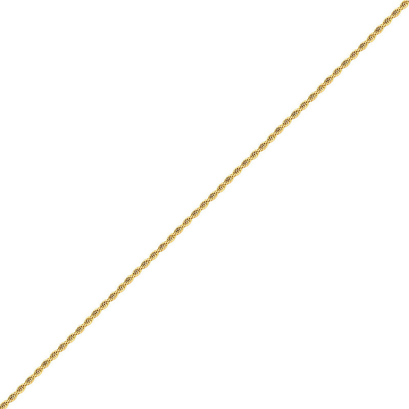 3mm Men's Gold Rope Chain