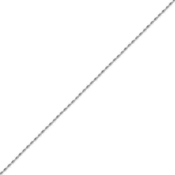 3mm White Gold Rope Stainless Steel Chain for Men