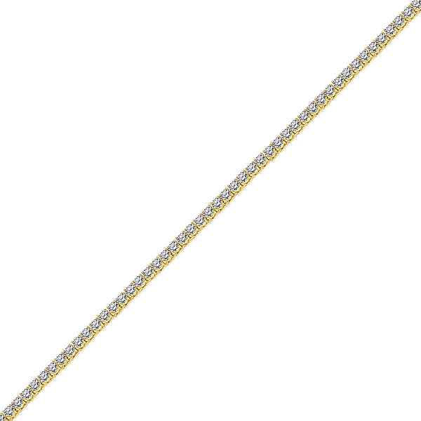5mm Hip Hop Gold Diamond CZ Tennis Chain for Men