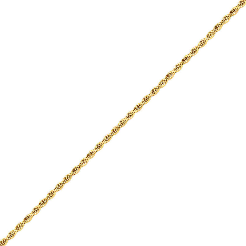 5mm Men's Gold Rope Stainless Steel Chain