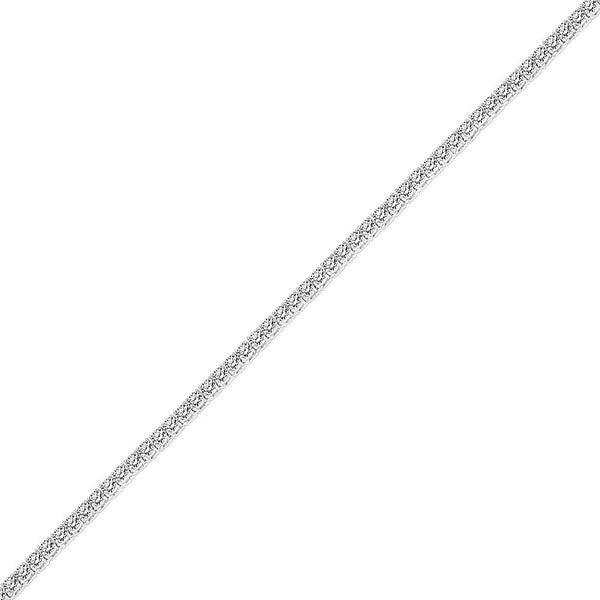 5mm Men's White Gold One Row Diamond CZ Tennis Chain
