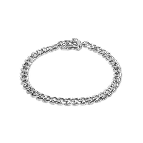 6mm Hip Hop White Gold Miami Cuban Link Bracelet