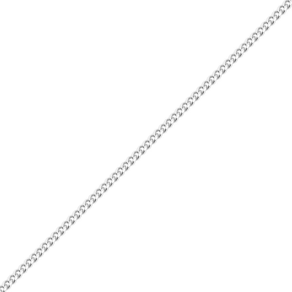 6mm Men's White Gold Miami Cuban Link Chain Necklace