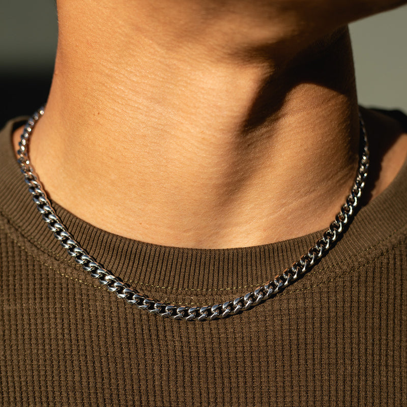 6mm White Gold Miami Cuban Chain
