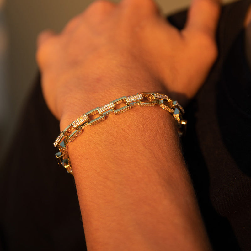 7mm Gold Hermes Diamond CZ Bracelet