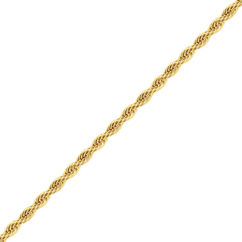 8mm Gold Rope Chain Necklace for Men