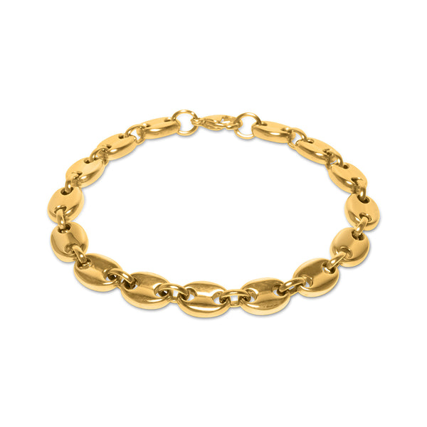 8mm Hip Hop Men's Gold Gucci Link Bracelet