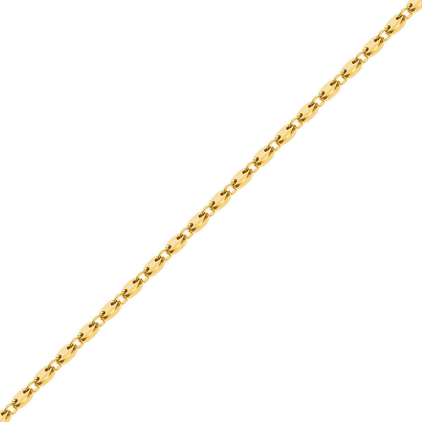 8mm Men's Gold Gucci Link Hip Hop Chain