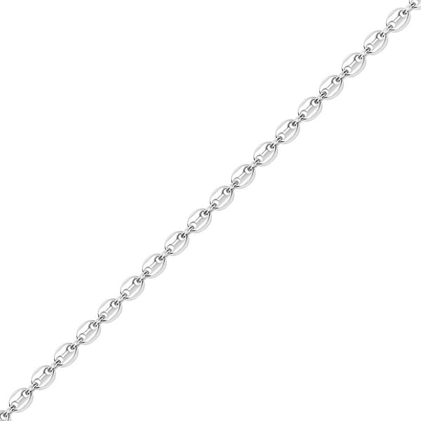 8mm White Gold Gucci Link Chain Necklace for Men