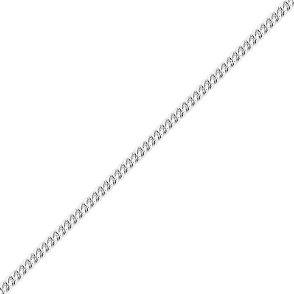 8mm White Gold Miami Cuban Link Chain for Men