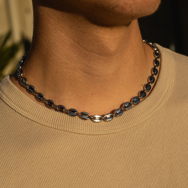 8mm White Gold Gucci Chain