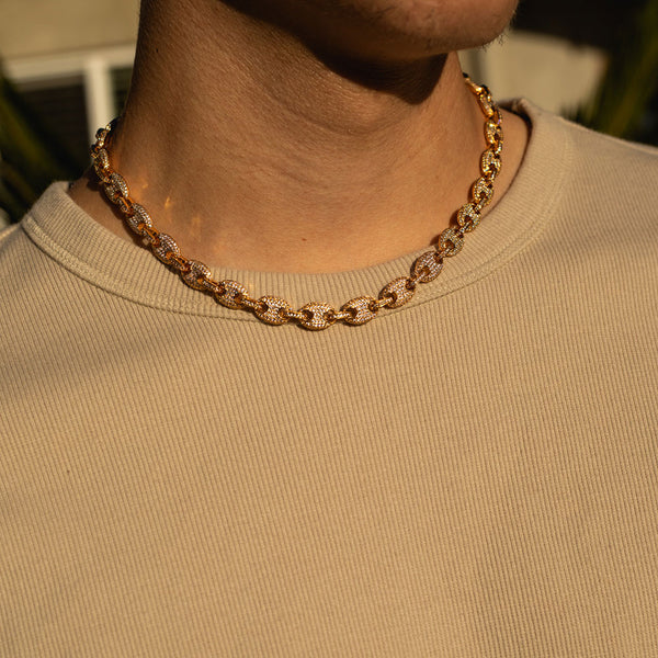 9mm Gold Gucci Diamond CZ Chain