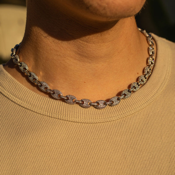 9mm White Gold Gucci Diamond CZ Chain