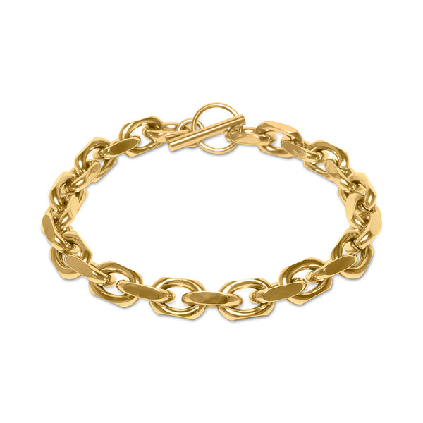 Hip Hop Men's Gold Odin Link Bracelet