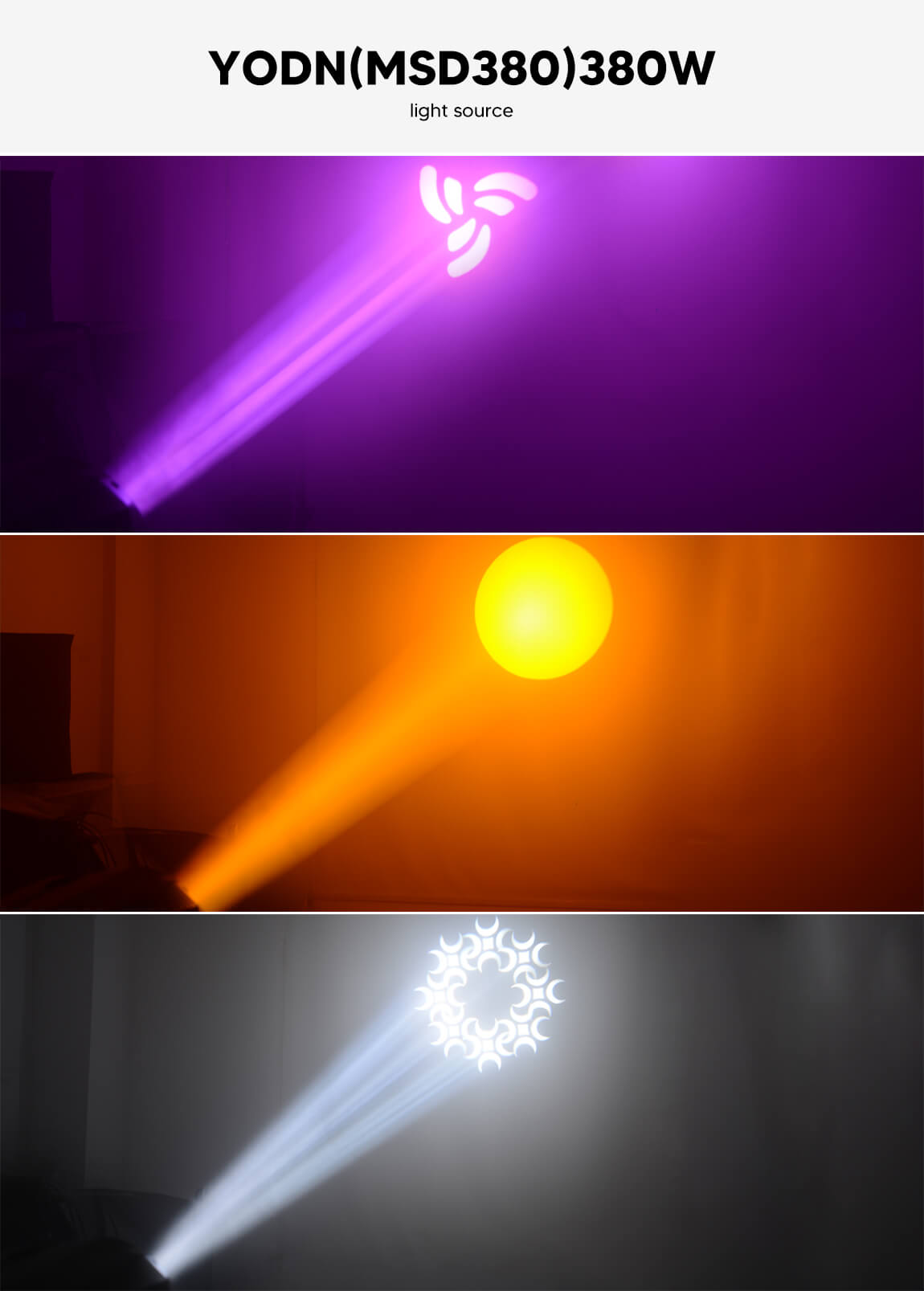 BETOPPER Beam Lamp Gobos Stage Led Light Moving Head Light LB380BSW Gobos & Colours