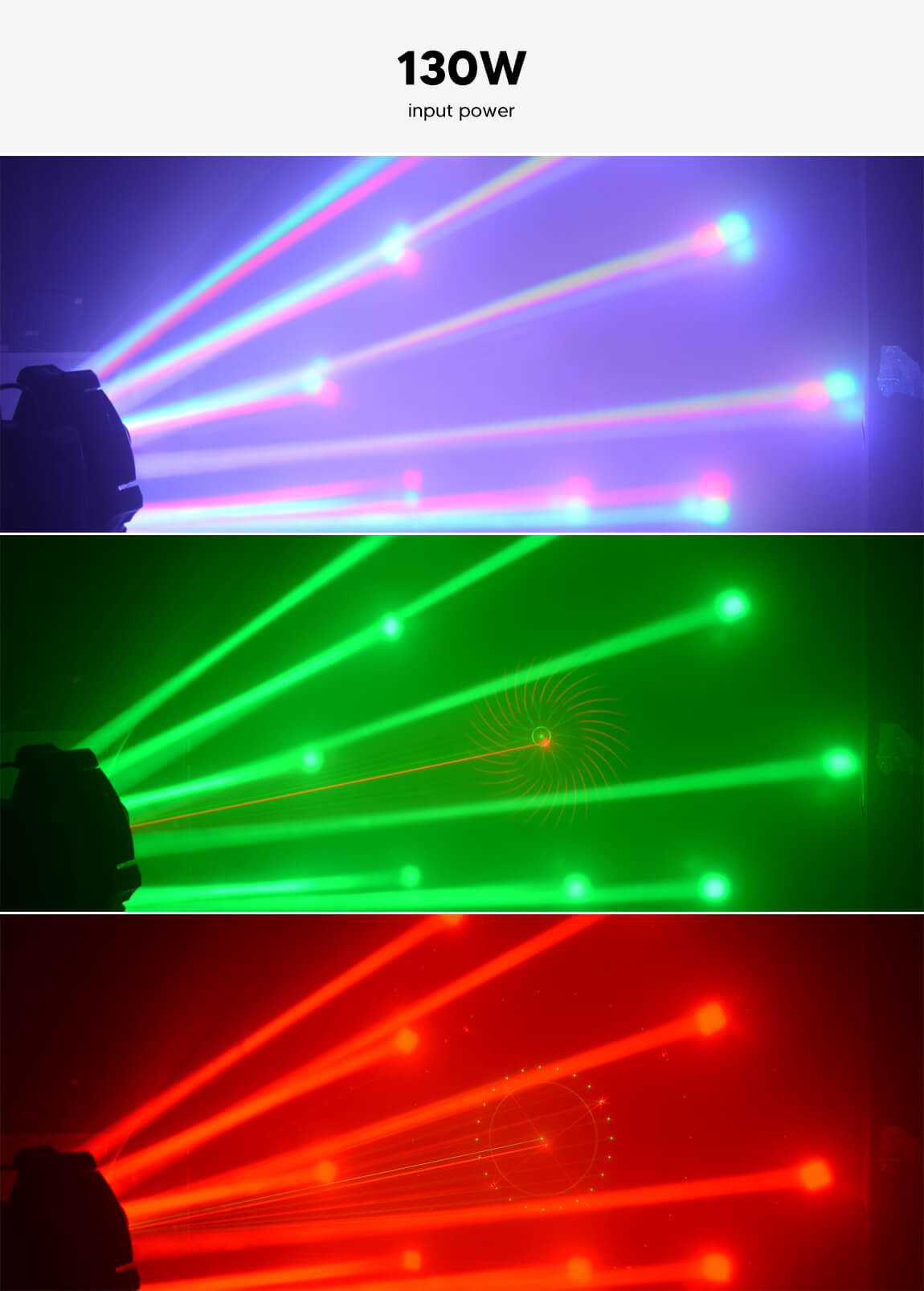 BETOPPER Spider Lighting Laser Wedding Stage Led Light Moving Head Light Spider Laser light LM0910RG Gobos & Colours