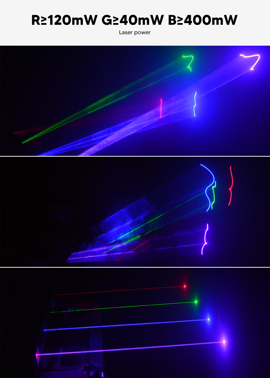BETOPPER laser light 4heads rgb complete stage lighting system B102RGB/4 Gobos & Colours