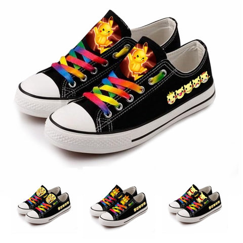 Cartoon Pokemon Go Pikachu Women Girls shoes Canvas shoes Sneakers Printing Casual Students Sports Shoes - shoescraze