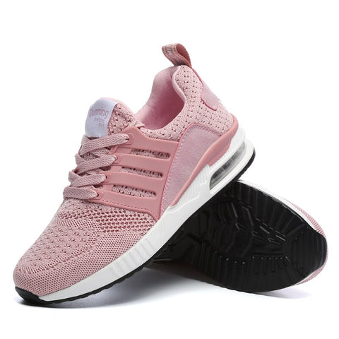 Krasovki Women Casual Shoes Brand Fashion Sneakers Air Sole Breathable Tenis Masculino Adulto Female Casual Superstar Shoes Pink - shoescraze